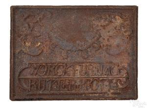 Cast iron stove plate