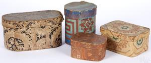 Four wallpaper boxes