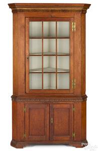 Pennsylvania pine two-part corner cupboard
