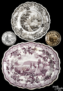 Four pieces of Historical Staffordshire