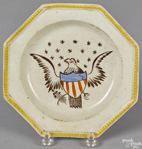 Pearlware octagonal plate