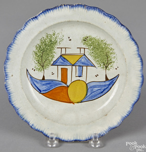 Pearlware blue feather edge plate