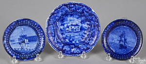 Three pieces of Historical Blue Staffordshire