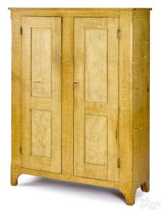 Pennsylvania painted pine cupboard