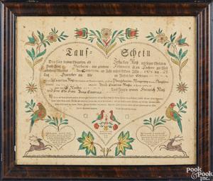 Pennsylvania fraktur birth certificate