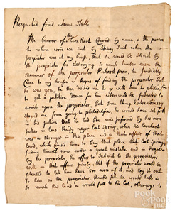 Conrad Weiser signed letter