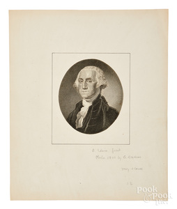 George Washington portrait engraving