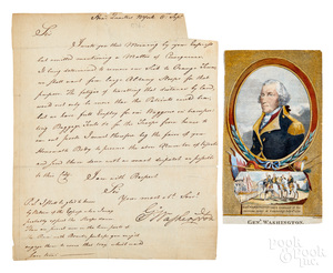 George Washington signed letter, 1776