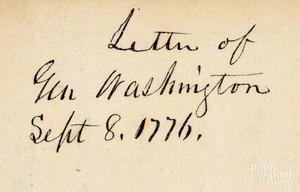 George Washington signed letter, 1776