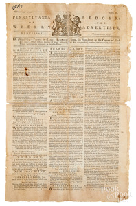 Pennsylvania Ledger Revolutionary War newspaper