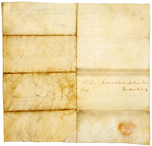 Edmund Randolph Governor of Virginia signed lette