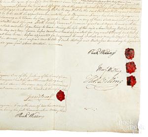 Thomas Willing signed vellum indenture