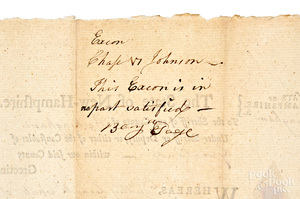 Nathaniel Folsom signed New Hampshire Writ