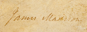 James Madison and James Monroe signed appointment