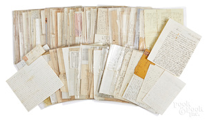 Large group of 19th c. letters, Civill War etc.