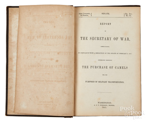 Report of the Secretary of War on camels 1857