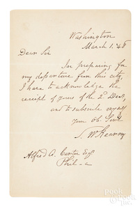 Stephen W. Kearny handwritten letter