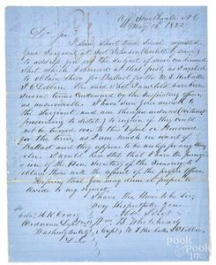 Jefferson Davis signed document