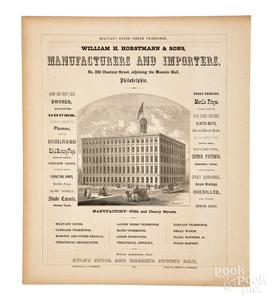Large William H. Horstmann & Sons advertisement