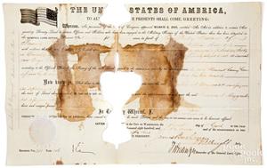 James Buchanan signed military land grant