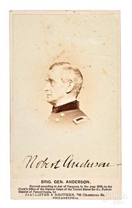 Signed CDV of Brigadier General Robert Anderson