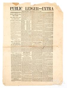 Philadelphia Public Ledger - Extra Civil War news