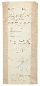 John Eugene Smith, Civil War signed pay voucher