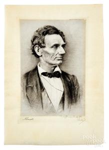 Signed Otto Schneider, Abraham Lincoln proof