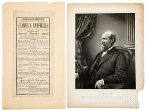 James A. Garfield memorial services broadside