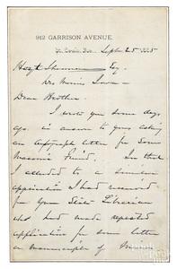 Civil War General William T. Sherman signed lette