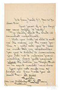 Robert E. Peary signed letter, 1896