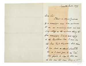Grover Cleveland signed letter