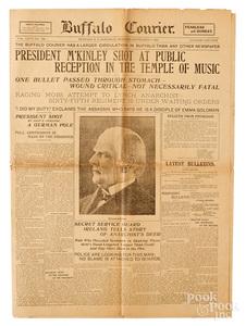 Buffalo Courier President McKinley Shot newspaper