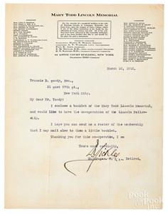 Major Gen. Daniel Sickles signed correspondence