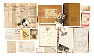 Detailed WWI hand written diary and archives