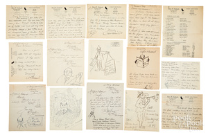 Collection of fifteen Alfred F. Goldsmith letters