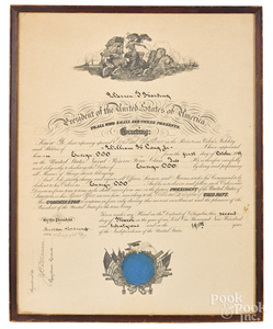 Signed Theodore Roosevelt naval appointment