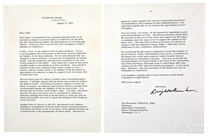 Dwight D. Eisenhower signed typed letter, 1954