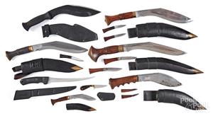 Six Gurhka Kukri knives