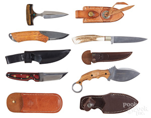 Five contemporary knives