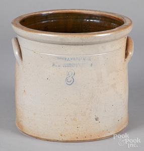 New Jersey three-gallon stoneware crock, 19th c.