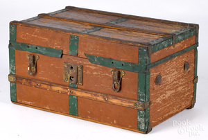 Child's doll trunk, ca. 1900
