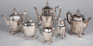 B.J. Mayo silver plated tea and coffee service