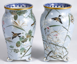 Pair of Japanese porcelain vases, ca. 1900