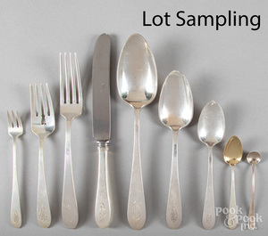 Gorham sterling silver flatware service for twelv