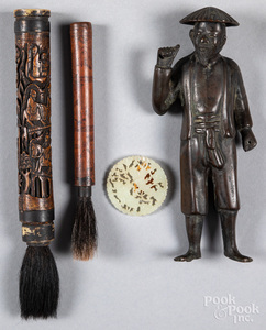 Two Chinese carved brushes