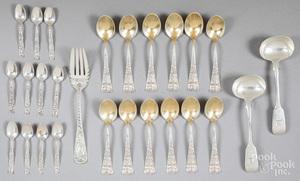 Sterling silver flatware, 19 ozt.