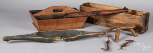 Group of woodenware