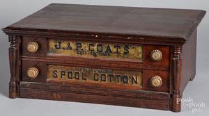 J. & P. Coats spool cabinet, ca. 1900