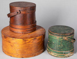 Two firkins, 19th c., etc.